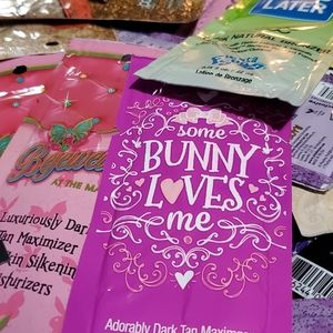 tanning lotion sample packets 10 random packets